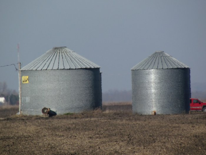 Tract Two: 2 grain bins located on NW corner